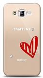 Samsung Galaxy J5 3 Taş Love Kılıf