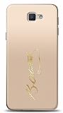 Samsung Galaxy J5 Prime Gold Atatürk İmza Kılıf