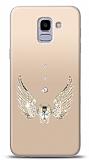 Samsung Galaxy J6 Angel Death Taşlı Kılıf