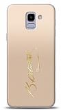 Samsung Galaxy J6 Gold Atatürk İmza Kılıf