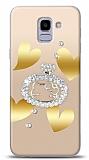 Samsung Galaxy J6 Lovely Kitty Taşlı Kılıf