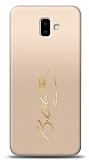 Samsung Galaxy J6 Plus Gold Atatürk İmza Kılıf