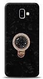 Samsung Galaxy J6 Plus Mozaik Yüzüklü Siyah Silikon Kılıf