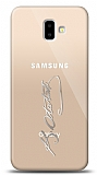 Samsung Galaxy J6 Plus Silver Atatürk İmza Kılıf