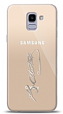 Samsung Galaxy J6 Silver Atatürk İmza Kılıf