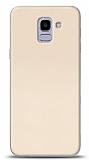 Samsung Galaxy J6 Tam Kenar Koruma Gold Rubber Kılıf