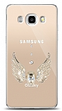 Samsung Galaxy J7 2016 Angel Death Taşlı Kılıf