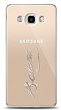 Samsung Galaxy J7 2016 Silver Atatürk İmza Kılıf