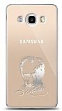 Samsung Galaxy J7 2016 Silver Atatürk Silüet Kılıf