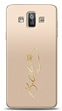 Samsung Galaxy J7 Duo Gold Atatürk İmza Kılıf
