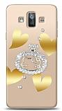 Samsung Galaxy J7 Duo Lovely Kitty Taşlı Kılıf