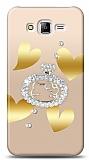 Samsung Galaxy J7 / Galaxy J7 Core Lovely Kitty Taşlı Kılıf