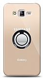 Samsung Galaxy J7 / Galaxy J7 Core Siyah Tutuculu Şeffaf Kılıf