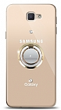 Samsung Galaxy J7 Prime / J7 Prime 2 Gold Tutuculu Taşlı Şeffaf Kılıf