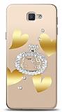 Samsung Galaxy J7 Prime / J7 Prime 2 Lovely Kitty Taşlı Kılıf