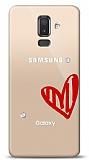 Samsung Galaxy J8 3 Taş Love Kılıf