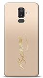 Samsung Galaxy J8 Gold Atatürk İmza Kılıf