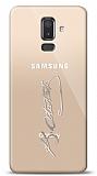 Samsung Galaxy J8 Silver Atatürk İmza Kılıf