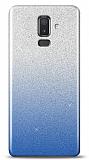 Samsung Galaxy J8 Simli Mavi Silikon Kılıf