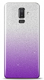 Samsung Galaxy J8 Simli Mor Silikon Kılıf