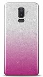 Samsung Galaxy J8 Simli Pembe Silikon Kılıf
