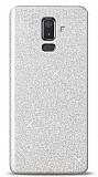 Samsung Galaxy J8 Simli Silver Silikon Kılıf