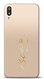 Samsung Galaxy M10 Gold Atatürk İmza Kılıf
