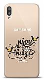 Samsung Galaxy M10 Njoy Little Things Resimli Kılıf