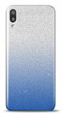 Samsung Galaxy M10 Simli Mavi Silikon Kılıf