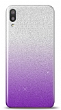 Samsung Galaxy M10 Simli Mor Silikon Kılıf