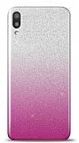 Samsung Galaxy M10 Simli Pembe Silikon Kılıf