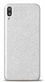 Samsung Galaxy M10 Simli Silver Silikon Kılıf