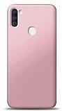 Samsung Galaxy M11 Rose Gold Mat Silikon Kılıf