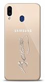 Samsung Galaxy M20 Silver Atatürk İmza Kılıf