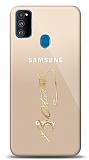 Samsung Galaxy M30S Gold Atatürk İmza Kılıf