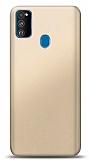 Samsung Galaxy M30S Gold Mat Silikon Kılıf