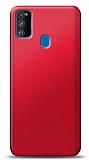 Samsung Galaxy M30S Kırmızı Mat Silikon Kılıf