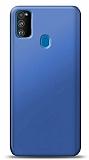 Samsung Galaxy M30S Lacivert Mat Silikon Kılıf