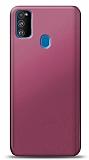 Samsung Galaxy M30S Mürdüm Mat Silikon Kılıf