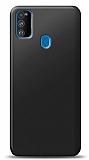 Samsung Galaxy M30S Siyah Mat Silikon Kılıf