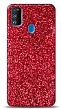 Samsung Galaxy M31 Pullu Kırmızı Silikon Kılıf