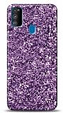 Samsung Galaxy M31 Pullu Mor Silikon Kılıf