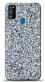 Samsung Galaxy M31 Pullu Silver Silikon Kılıf