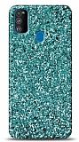 Samsung Galaxy M31 Pullu Yeşil Silikon Kılıf