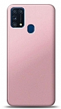 Samsung Galaxy M31 Rose Gold Mat Silikon Kılıf