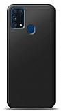 Samsung Galaxy M31 Siyah Mat Silikon Kılıf