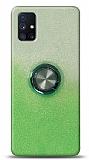 Samsung Galaxy M51 Simli Yüzüklü Yeşil Silikon Kılıf