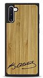 Samsung Galaxy Note 10 Atatürk İmza Ahşap Kılıf
