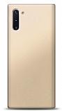 Samsung Galaxy Note 10 Gold Mat Silikon Kılıf