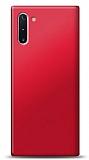 Samsung Galaxy Note 10 Kırmızı Mat Silikon Kılıf